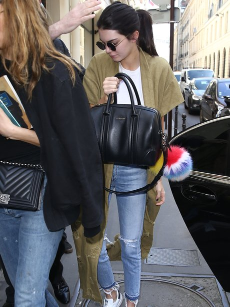 Kendall Jenner heads to Chanel in Paris