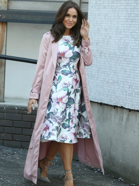 Vicky Pattison leaves the ITV studios in floral dr