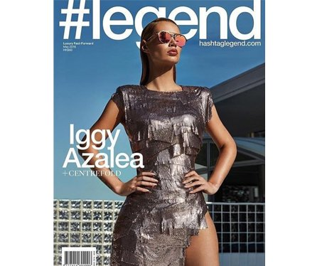 Iggy Azalea on the cover of #Legend magazine