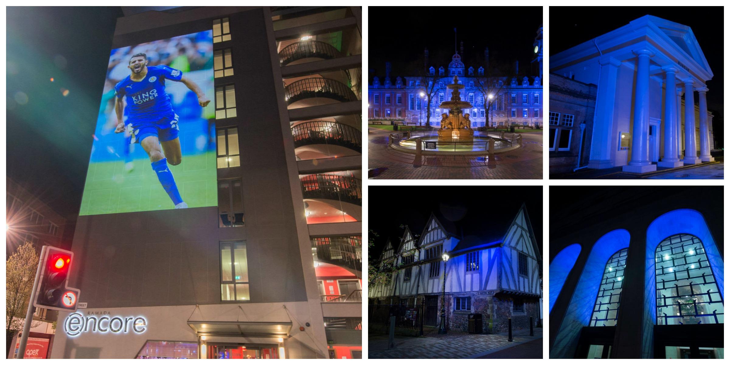 Leicester City Blue buildings