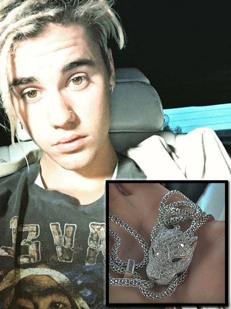 Justin Bieber expensive purchase Cartier necklace
