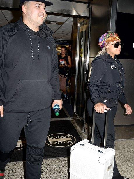 Blac Chyna and Rob Kardashian land in Miami to cel