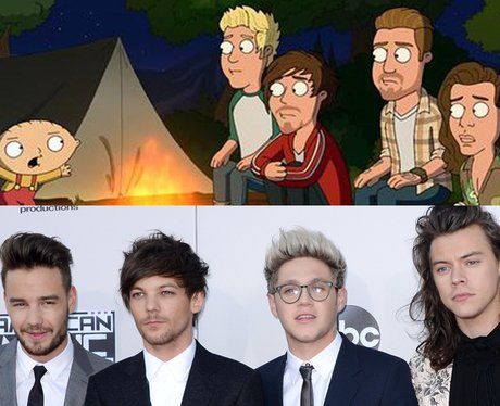 Cartoon Cameo One Direction Family Guy