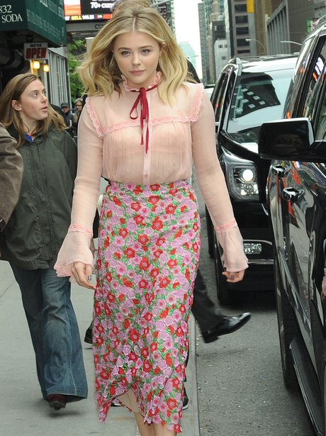 Chloe Grace Moretz is pretty in pink