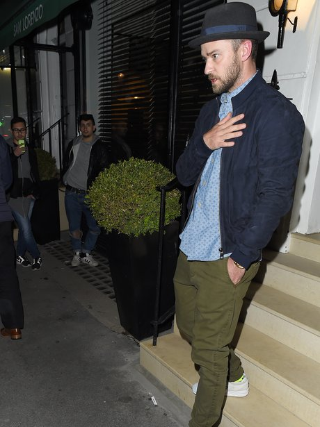 Justin Timberlake out and about in London