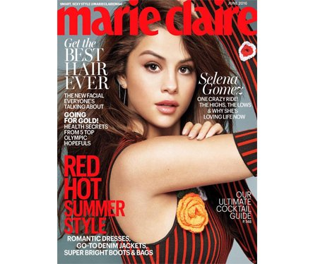 Selena Gomez on the cover of Marie Claire USA