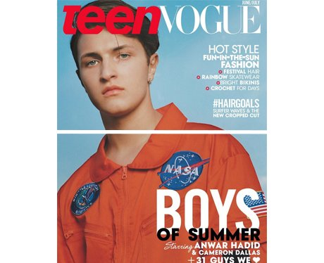 Anwar Hadid poses for his first teenVogue cover