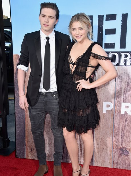 Brooklyn Beckham and Chloe Grace Moretz make red c