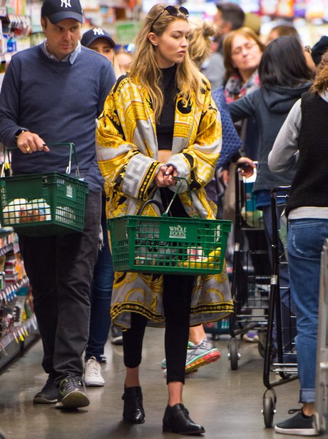 Gigi Hadid goes shopping in Whole Foods