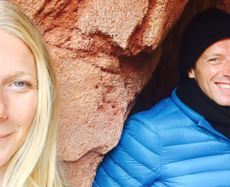Gwyneth Paltrow and Chris Martin hang out at Disne