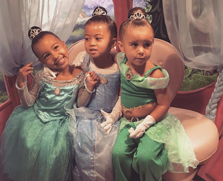 North West and Penelope Disick get a princess make