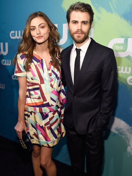 Paul Wesley and girlfriend, Phoebe Tonkin at The C