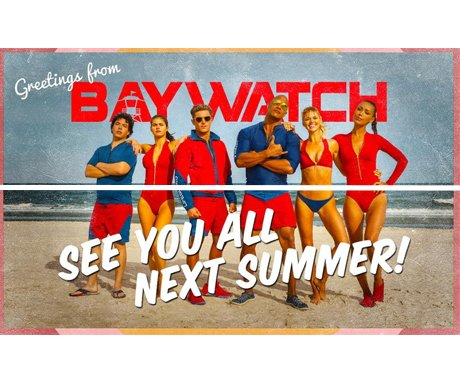 The Baywatch cast wrap on filming