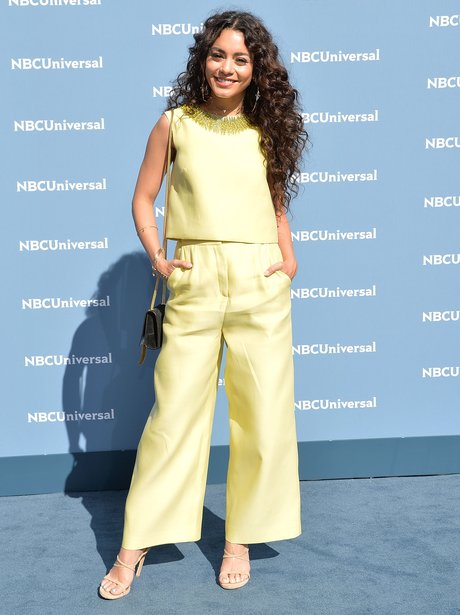 Vanessa Hudgens wows in yellow at NBCUniversal Upf
