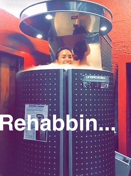Demi Lovato in -200F chamber