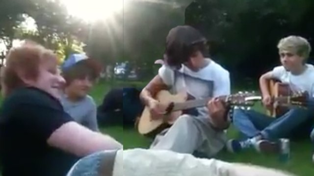 WATCH: Ed Sheeran & One Direction Freestyle In A Park During
