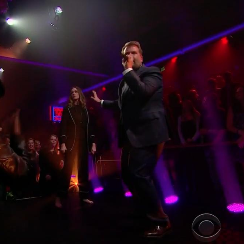 James Corden Drop the Mic With Anne Hathaway