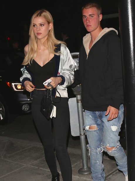 Justin Bieber goes out for dinner with Nicola Pelt