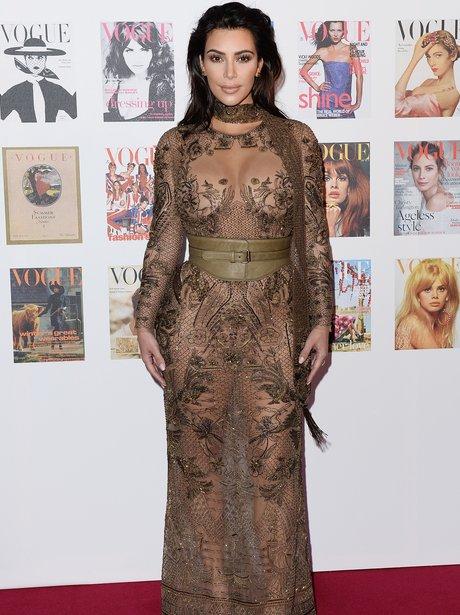 Kim Kardashian attends 100 Gala