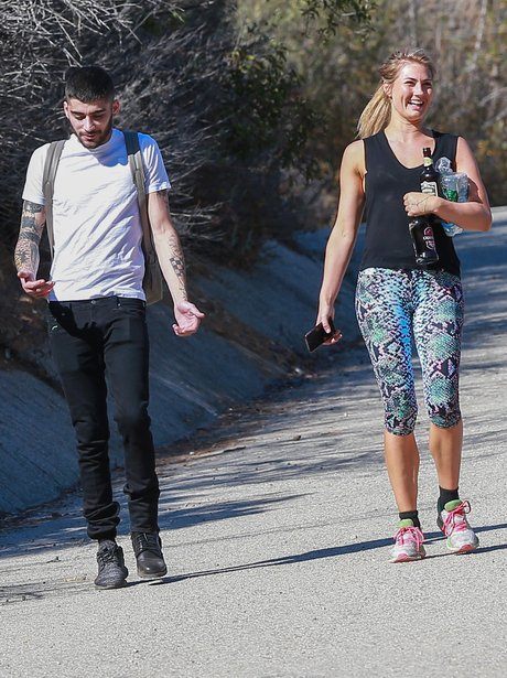 Zayn Malik goes for a hike with mystery blonde