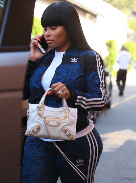 Blac Chyna dresses her growing baby bump in tracks