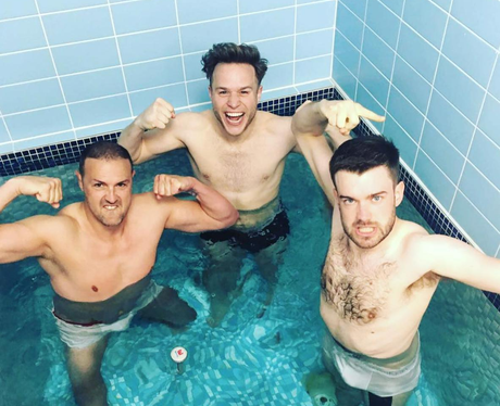 Paddy McGuinness, Olly Murs and Jack Whitehall tak