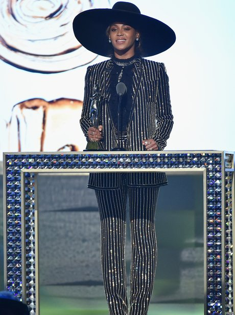 Beyonce in a seriously sparkly outfit at the CFDA
