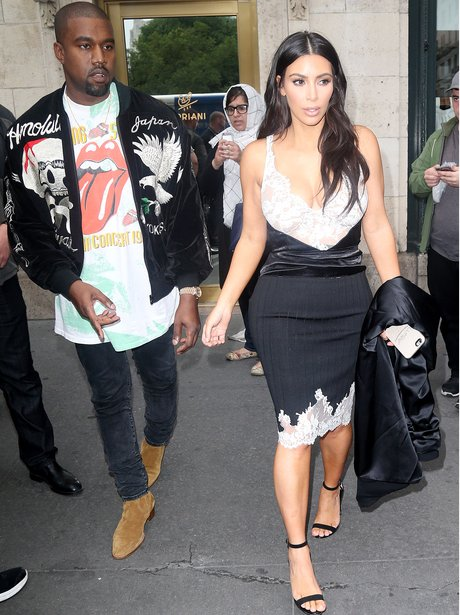 Kim Kardashian and Kanye West head out to celebrat