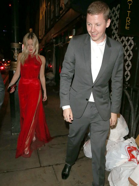 Laura Whitmore and Professor Green head on night o