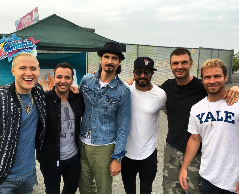 Mike Posner with the Backstreet Boys