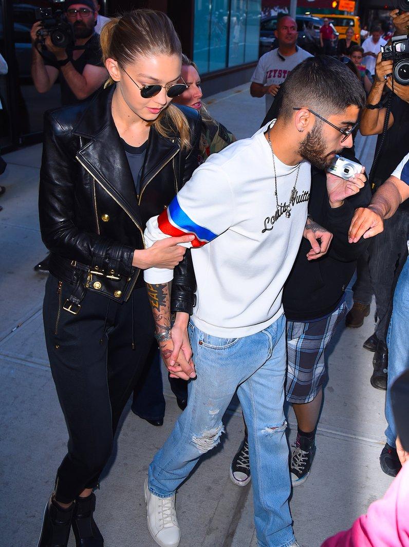 Zayn Malik and Gigi Hadid head to the airport