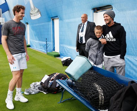 Andy Murray with David Beckham