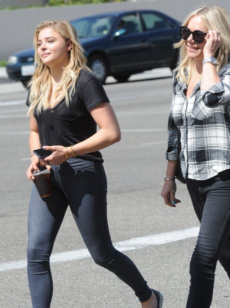 Chloe Grace Moretz with her Mum out and about in L