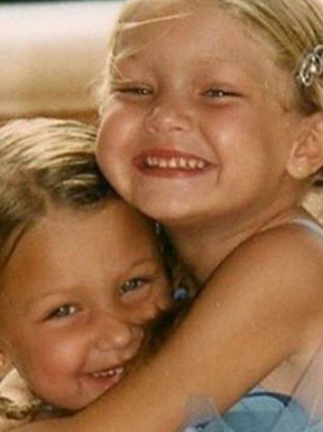 Gigi and Bella Hadid childhood photo ballet