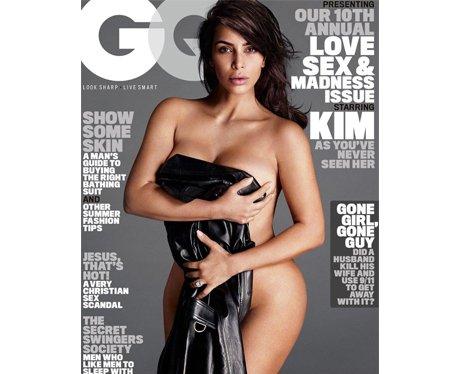 Kim Kardashian poses for GQ Magazine