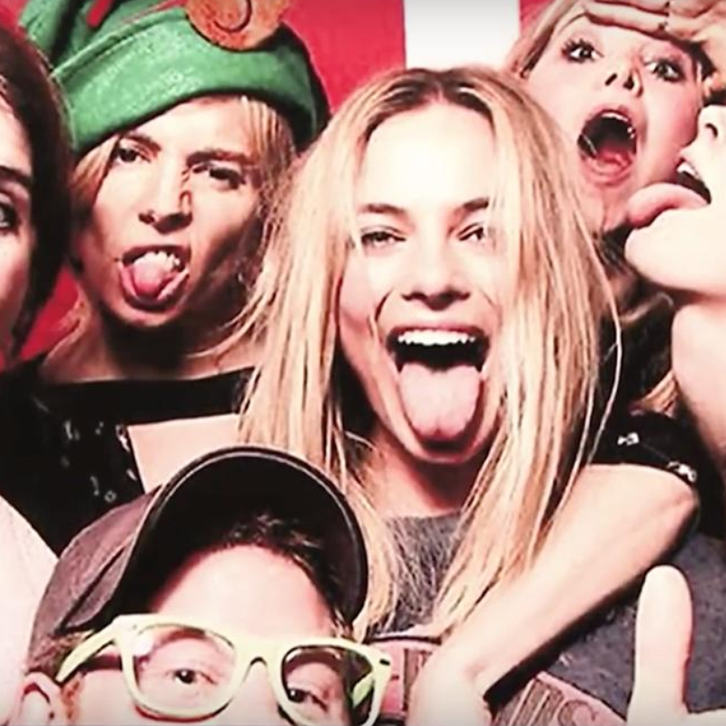 Prince Harry and Margot Robbie Instagram Photo Booth