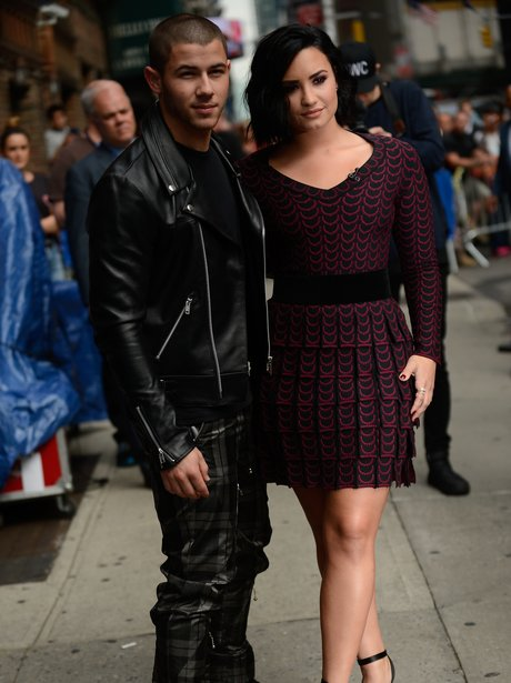 Nick Jonas and Demi Lovato pose ahead of joint TV