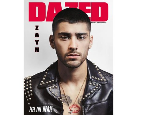 Zayn Malik on the cover of Dazed and Confused