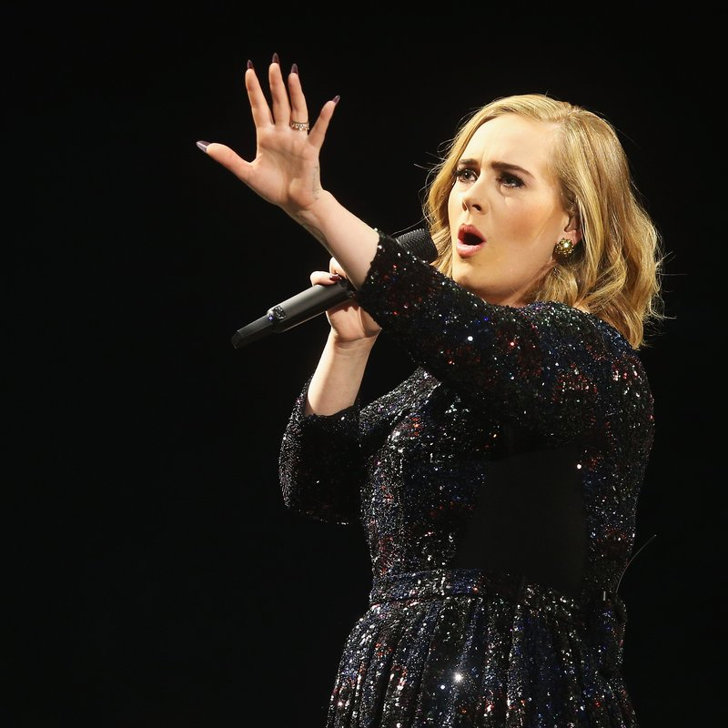 Adele Performing At Hamburg