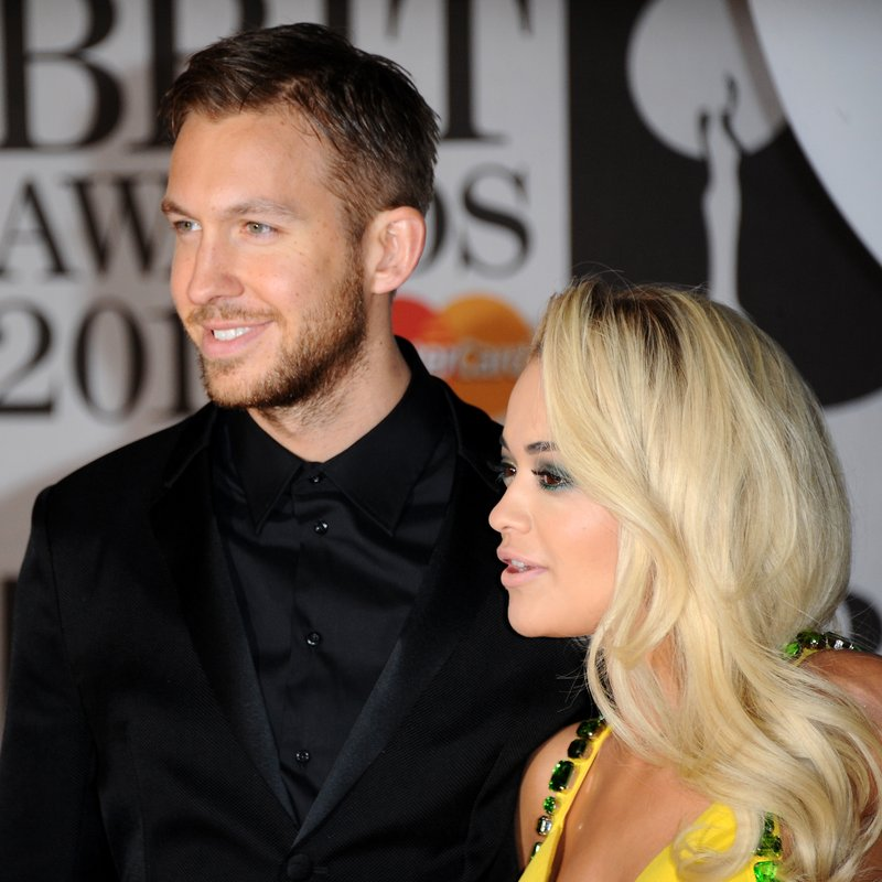 Calvin Harris and Rita Ora BRITS Awards 2014