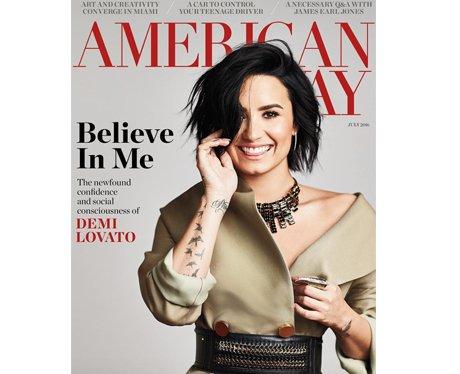 American Way magazine Demi Lovato