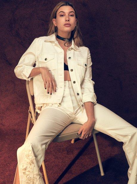 Hailey Baldwin poses for V Magazine