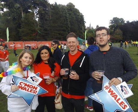 Cardiff Fanzone: Wales v Belgium