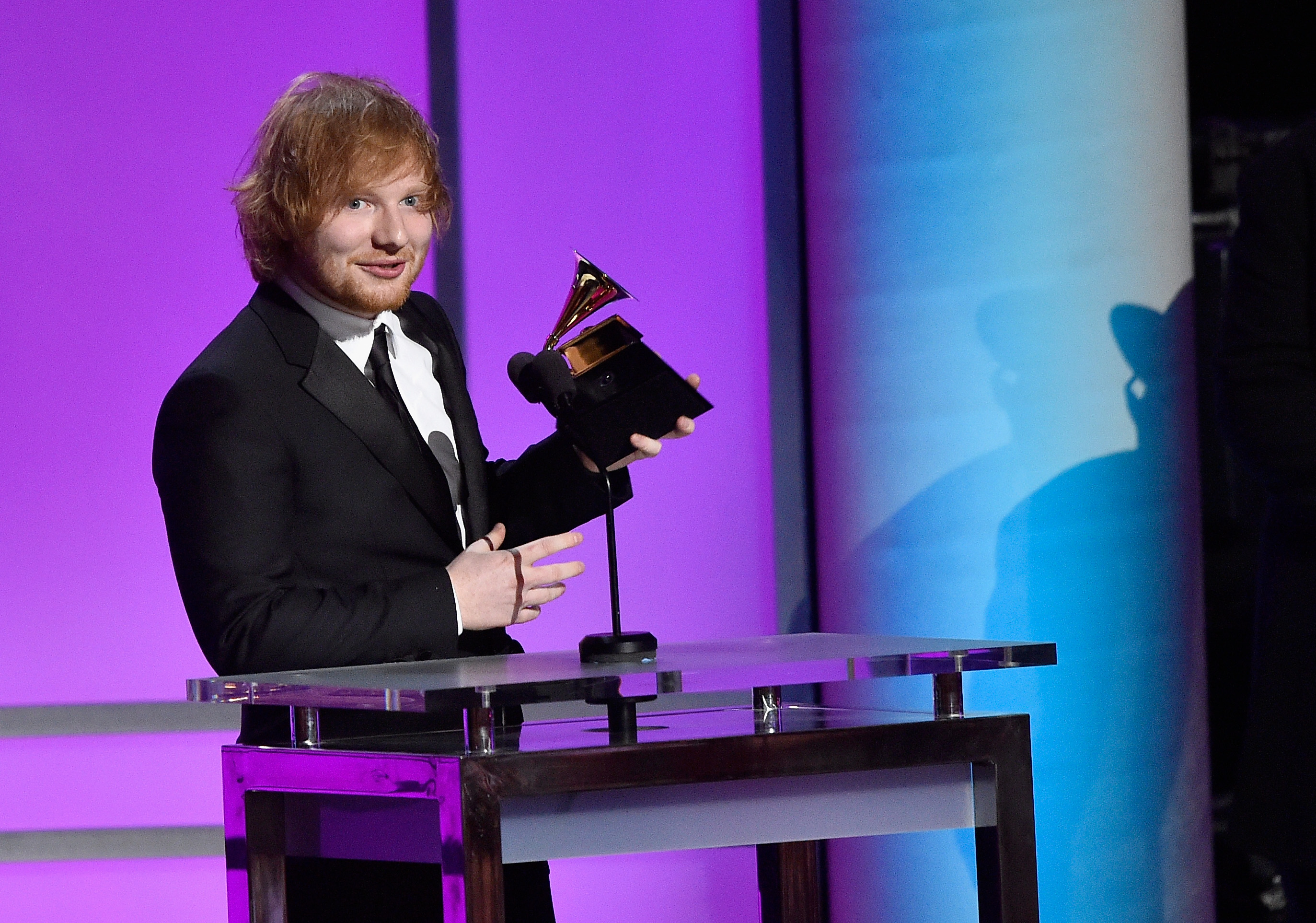 Ed Sheeran at The 58th GRAMMY Awards - GRAMMY Pre-