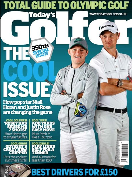 Niall Horan on the cover of Today's Golfer