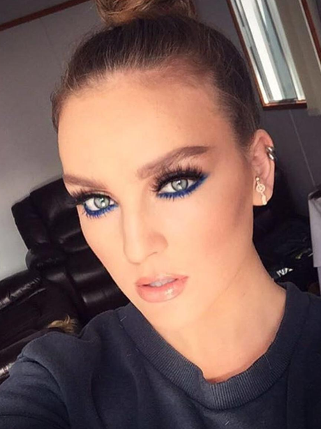 Perrie Edwards brings back the blue eyeliner