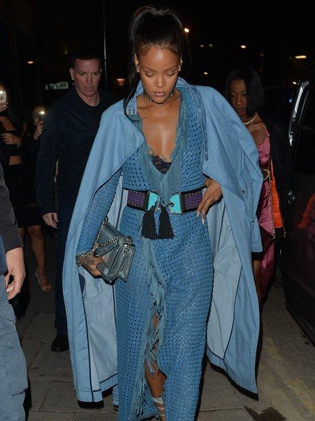 Rihanna parties in London