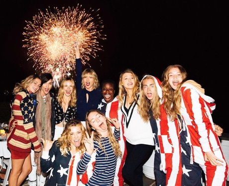 Taylor Swift and her gang on 4th July