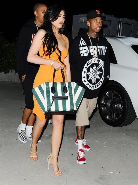 Tyga picks Kylie Jenner up after fashion brand lau