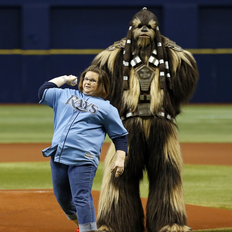 Houston Astros v Tampa Bay Rays Candace 'Chewbacca Mom' Payne